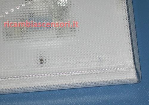 Ricambi Per Plafoniere Neon : Ricambi per cabine ascensori plafoniera cabina bianca neon